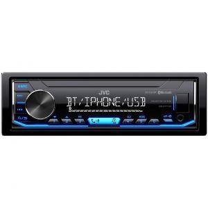 JVC KD-X351BT Auto radio jačine 4 x 50W sa skidajućom prednjom maskom, AUX i USB ulazom preko koga možete puniti vaš mobilni telefon.