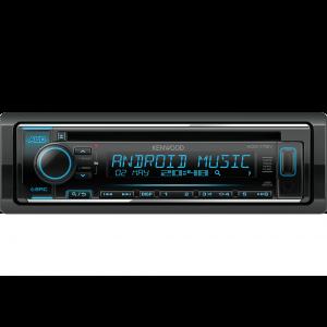 Kenwood KDC-172Y Auto radio jačine 4x50W sa varijabilnim osvetljenjem dugmića, USB konektorom, kompatibilan sa iOS i Android uredajima, LCD displejom itd.