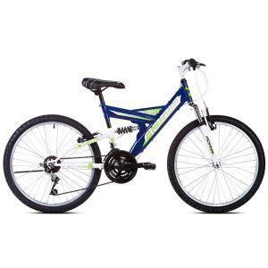 """CAPRIOLO Adria DAKOTA 24/18HT plavo 16 Bicikl za decu, sa čeličnim ramom, 24"""" točkovima, plave boje, namenjan dečacima uzrasta od 9 do 11 godina."""