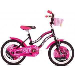 """CAPRIOLO Adria Fantasy 20 HT crno pink Bicikl za decu, sa čeličnim ramom, 20"""" točkovima, crno roze boje, namenjan devojčicama uzrasta od 6 do 8 godina."""