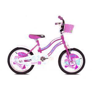 "CAPRIOLO Adria Fantasy 20 HT ljubičasti Bicikl za decu, sa čeličnim ramom, 20"" točkovima, ljubičaste boje, namenjan devojčicama uzrasta od 6 do 8 godina."