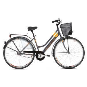 CAPRIOLO Amsterdam LADY 28 HT grafit Bicikl za odrasle ženski model klasičnog bicikla, sa zadnjom kontra kočnicom i pojačanim ramom