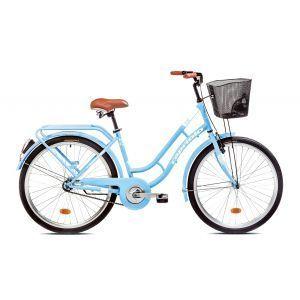 """CAPRIOLO PICNIC 26 HT plavo beli 17 Bicikl za odrasle, sa čeličnim ramom od 17"""" i točkovima 26"""", plavo bele boje namenjen odraslim osobama."""