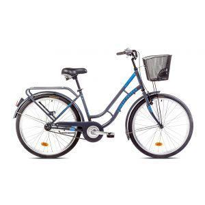 """CAPRIOLO PICNIC 26 HT sivo plavi 17 Bicikl za odrasle, sa čeličnim ramom od 17"""" i točkovima 26"""", sivo plave boje namenjen odraslim osobama."""