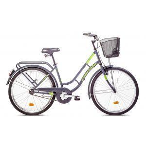"""CAPRIOLO PICNIC 26 HT sivo zeleni 17 Bicikl za odrasle, sa čeličnim ramom od 17"""" i točkovima 26"""", sivo zelene boje namenjen odraslim osobama."""