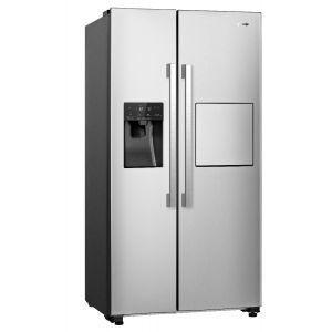Gorenje NRS 9181 VXB Side by side frižider bruto zapremine 605 litara sa LED osvetljenjem na zidu, automatskim ledomatom, otal NoFrost tehnologijom ....