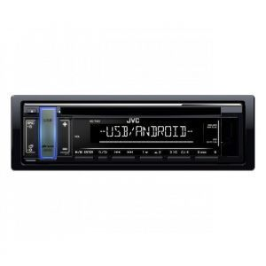 JVC KD-T401 Auto radio snage 4x50W sa LCD displejem i varijabilnom bojom dugmića, USB / AUX ulazom i opcijom za peprodukcija Android muzike.