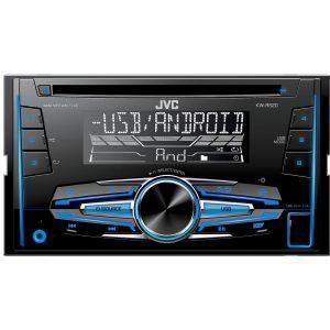 JVC KW-R520 Auto radio sa CD plejerom,USB i Aux ulazima,koji podržava WAV, MP3, WMA i FLAC formate,  2DIN veličine sa promenljivom bojom osvetljenja tastera.