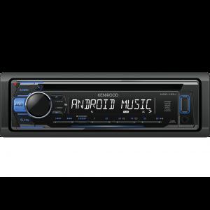 Kenwood KDC-110UB Auto radio sa ugrađenim Bluetooth-om i USB konektorom, kompatibilan sa iOS i Android uređajima, LCD displejom itd.
