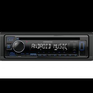 Kenwood KDC-130UB Auto radio snage 4x50W sa prednjom pločom koja se skida, USB konektorom, kompatibilan sa iOS i Android uredajima, LCD displejom itd.