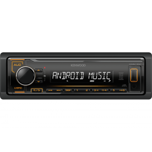 Kenwood KMM-104AY Auto radio sa ugrađenim Bluetooth-om i USB konektorom, kompatibilan sa iOS i Android uređajima, LCD displejom itd.