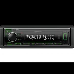 Kenwood KMM-104GY Auto radio sa ugrađenim Bluetooth-om i USB konektorom, kompatibilan sa iOS i Android uređajima, LCD displejom itd.