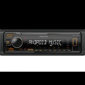Kenwood KMM-105AY Auto radio snage 4x 45 W sa AUX I USB ulazom (iOS i Android kompatibilan) i zelenim osvetljenjem tastera.