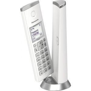 Panasonic KX-TGK210FXW Bežični telefon sa  ekranom od 1,5 inča, mogućnošću blokiranje neželjenog poziva do 30 unosa, alarmom, satom itd.