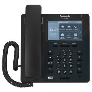 Panasonic KX-HDV330NEB SIP telefon sa 12 SIP naloga, 4.3 inčim kolor TFT LCD displejem sa touch panelom, 24 funkcionala tastera i  2,500 brojava u imeniku.