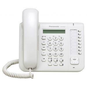 "Panasonic KX-DT521X Sistemski telefon sa jednorednim LCD ekranom, 8 fleksibilnih funkcijskih tastera, ""One-touch"" i  ""Full Duplex Speakerphone"" funcijom."