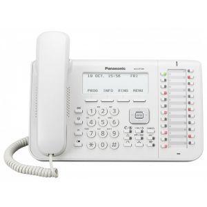 Panasonic KX-DT546X Sistemski telefon sa 6 rednim LCD ekranom, 24 fleksibilnih funkcijskih tastera, One-touch i Full Duplex Speakerphone funkijom.