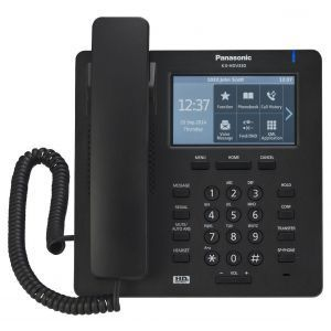 Panasonic KX-HDV330XB SIP telefon sa 12 SIP naloga, 4.3 inčim kolor TFT LCD displejem sa touch panelom, 24 funkcionala tastera i  2,500 brojava u imeniku.
