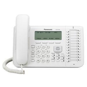 Panasonic KX-NT546X Sistemski telefon sa 6-rednim ekranom sa pozadinskim osvetljenjem i 24 slobodna funkcijska tastera, Plantronics EHS kompatibilan.