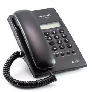 Panasonic KX-T7703X-B Žični telefon sa LCD ekranom u dva reda identifikacijom dolaznih poziva - Caller ID i Redial funkcijom.