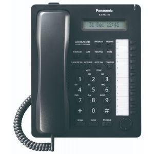 Panasonic KX-T7730B Sistemski telefon sa 12 programabilnih tastera, jednorednim LCD displejom sa 16 karaktera, Spikerfon, Auto answer i Mute tasterima...