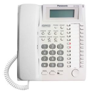 Panasonic KX-T7735 Sistemski telefon napredni hibridni telefon sa 12 tastera i alfanumeričkim displejem sa 3 reda i 16 karaktera.