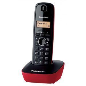 Panasonic KX-TG1611FXR Bežični telefon sa osvetljenim displejem i površinom otpornom na otiske prstiju, identifikacijom poziva, memorija 50 brojeva, redial.