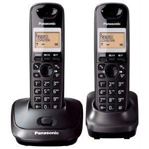 Panasonic KX-TG2512FXT Bežični telefon DECT/GAP sa 2 slušalice, caller ID/Imenikom Eco funkcijom i memorija za 50 primljenih poziva,