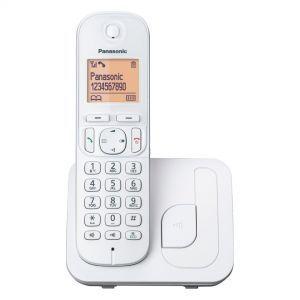 Panasonic KX-TGC210FXW Bežični telefon DECT/GAP sa narandžasto osvetljenim grafičkim displejem od 1.6 inča i tehnologijom smanjenog zračenja ECO dect.