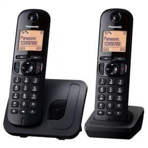 Panasonic KX-TGC212FXB Bežični telefon Sistem DECT 6.0 i GAP kompatibilan sa mogućnošću primanja poziva preklo bilo kog tastera, alarmom, satom itd.