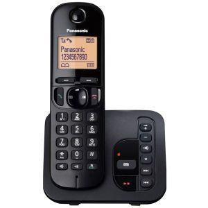 Panasonic KX-TGC220FXB Bežični telefon Sistem DECT 6.0 i GAP kompatibilan sa mogućnošću primanja poziva preklo bilo kog tastera, alarmom, satom itd.
