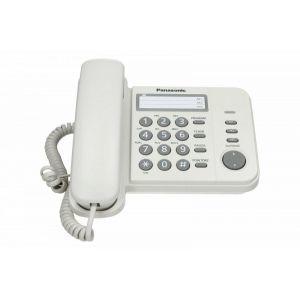 Panasonic KX-TS520FXW Žični telefon sa opcijom ponovnog biranje poslednjeg broja, Flash tasterom za pristup funkcijama centrala, montiranja na zid itd.