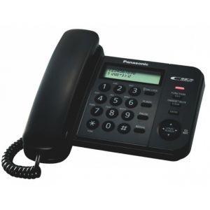 Panasonic KX-TS580FXB Žični telefon sa 2-rednim LCD displej mogućnošću prikaza do 50 brojeva, imenikom, lampicom za indikaciju dolaznih poziva itd.