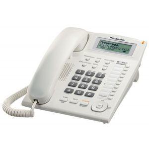 Panasonic KX-TS880FXW Žični telefon sa 10 tastera za brzo biranje, Redial, Flash, 4 nivoa jačine slušalice,  Caller ID i mogućnošču zidne montaže.