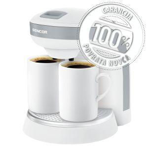 Sencor SCE 2001WH Aparat za kafu koji vam pruža mogućnost pripremanje kafe ili čaja može da se koristi kao prenosivi aparat za kafu za kampovanje.