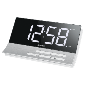 Sencor SDC 5100 Digitalni alarm sat  sa USB punjačem velikim ekranom dijagonale 5,1 inča (13cm) pogodan za radnu površinu.