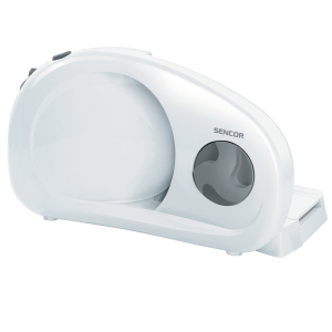 Sencor SFS 1000WH Mesoreznica sa diskom za sečenje koji se skida (prečnika 190 mm) od nerđajućeg čelika i brojčanikom za sečenje u različitim širinama.