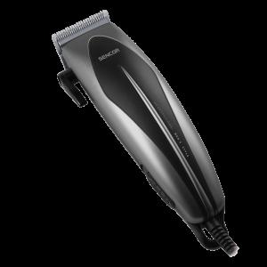 Sencor SHP 320SL Trimer za kosu sa sečivom od nerđajućeg čelika i 4 dodatka za češljanje (od 3, 6, 9 i 12 mm).