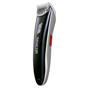 Sencor SHP 4302RD Trimer za kosu sa sečivom od nerđajućeg čelika i tasterom za regulisanje dužine dlake 1-8 mm.