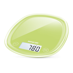 Sencor SKS 37GG Kuhinjska vaga sa senzorima osetljivim na dodir velikim LCD ekranom i funkcijom za poništavanje težine posude u kojoj se meri.