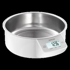 Sencor SKS 4030WH kuhinjska vaga sa senzorima osetljivim na dodir velikim LCD ekranom i funkcijom za poništavanje težine posude u kojoj se meri.
