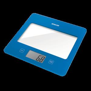 Sencor SKS 5022BL kuhinjska vaga sa senzorima osetljivim na dodir velikim LCD ekranom i funkcijom za poništavanje težine posude u kojoj se meri.