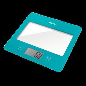 Sencor SKS 5027TQ kuhinjska vaga sa senzorima osetljivim na dodir velikim LCD ekranom i funkcijom za poništavanje težine posude u kojoj se meri.