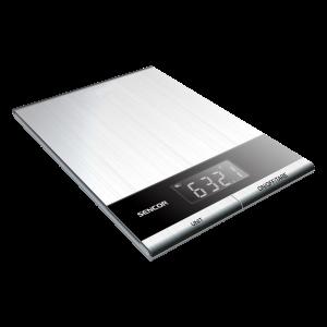 Sencor SKS 5305 kuhinjska vaga sa senzorima osetljivim na dodir, velikim LCD ekranom i površinom od nerđajućeg čelika radi jednostavnog održavanja.
