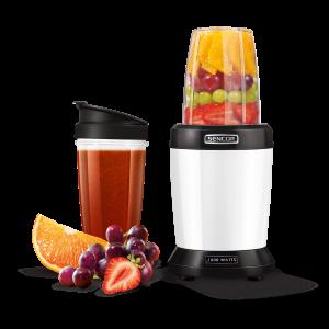 Sencor SNB 4300WH Nutri Blender snage 1000W izdvaja teško dostupne hranljive materije skrivene u semenkama, orašastim plodovima, usitnjava voće i povrće.