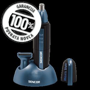 Sencor SNC 101BL Trimer sa oštricom od nerđajućeg čelika za skracivanje dlake u nosu, ušima i zulufima, praktičan za putovanje.