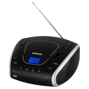 Sencor SPT 1600 BS CD plejer sa funkcijom podešavanja reprodukcije unapred, memorijom za 20 pesama za CD i 99 pesama za MP3, kompatibilan sa CD-R/RW, MP3.