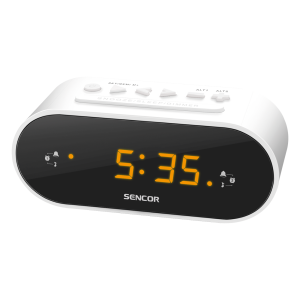 Sencor SRC 1100W radio sat sa LED ekran od 0,6 inča za buđenje uz alarm ili podešene radio stanice.
