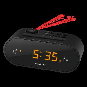 Sencor SRC 3100 B radio budilnik sa LED ekran od 0,9 inča za buđenje uz alarm ili podešene radio stanice.