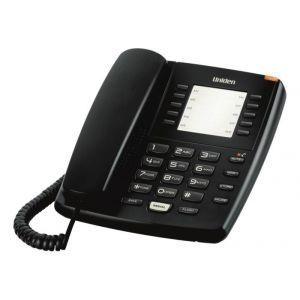 Uniden AS7201B Žični telefon sa svetlosnim indikatorom za poruke, 10 memorijskih tastera, flash i redial dugmetom i  mogućnošću montiranja na zid.